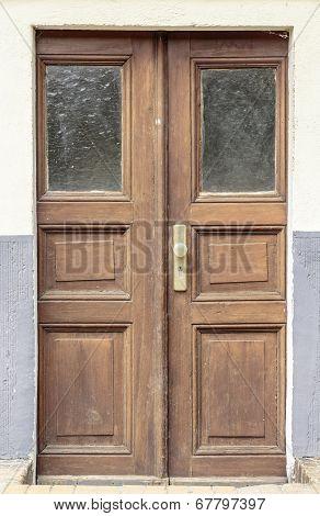 Old Brown Wood Door
