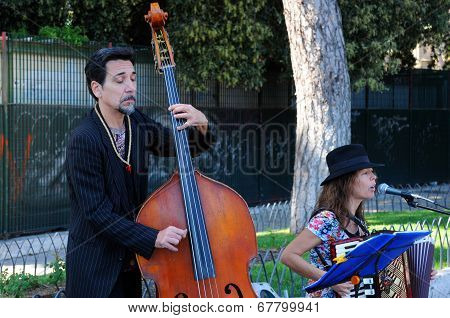 Street Musicians In Rome