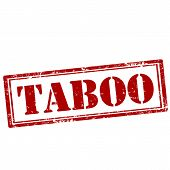 pic of taboo  - Grunge rubber stamp with text Taboo - JPG