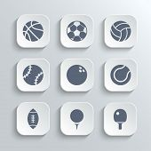 picture of ping pong  - Sport balls icon set  - JPG
