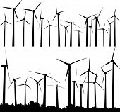 Постер, плакат: Ветровые турбины