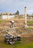 foto of artemis  - Ruins of ancient Artemision in Ephesus Turkey - JPG