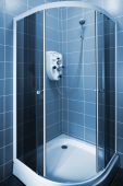 picture of shower-cubicle  - New beautiful shower cubicle in a modern bathroom - JPG