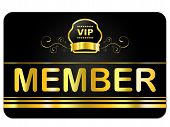 picture of eminent  - Membership Card Meaning Very Important Person And Join Us - JPG