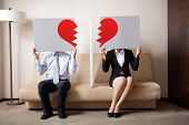 stock photo of two hearts  - Divorce  - JPG