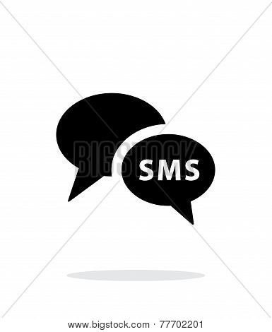 Phone dialogue icon on white background.