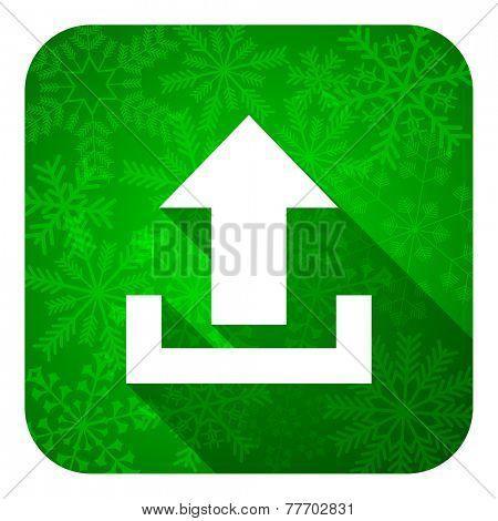 upload flat icon, christmas button