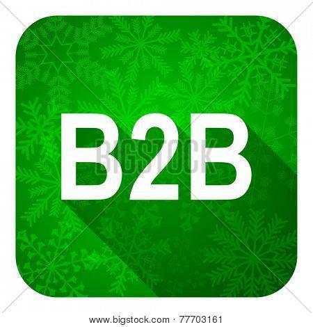 b2b flat icon, christmas button