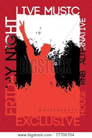 Concert poster. Vector illustration