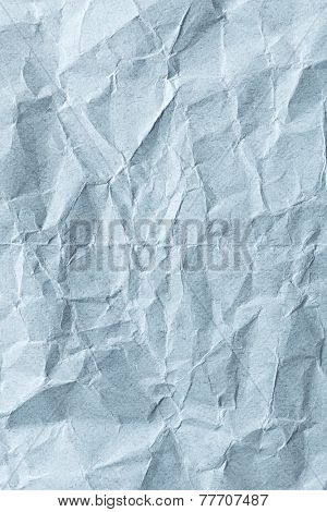 Blue drawing paper with natural cotton cellulose (crumpled)