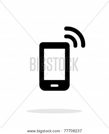 Phone icon on white background.