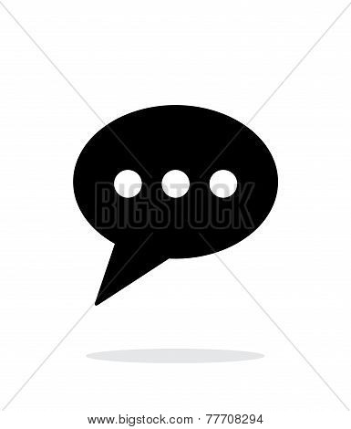 Phone message icon on white background.