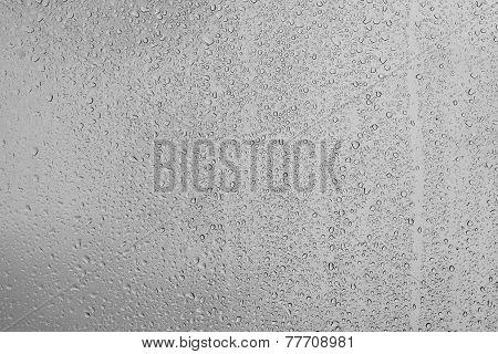 Raindrops on window surface