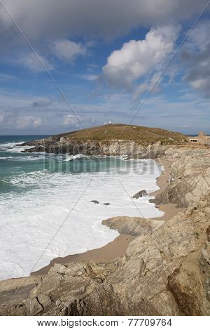 Newquay coast Cornwall England UK at Towan Head