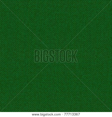 Green Knitwear Or Fabric Generated Texture
