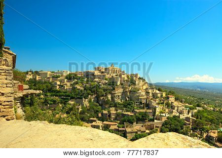 Gordes Medieval Village On Rock Hill. Luberon, Provence, France.