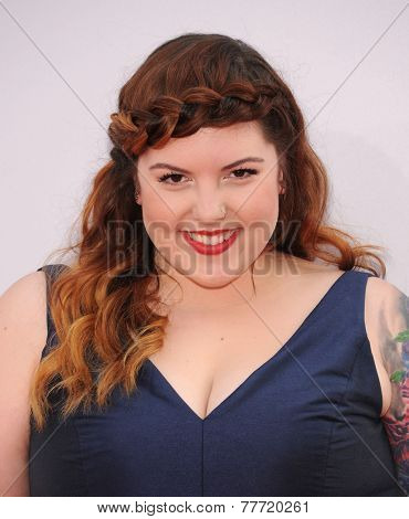 LOS ANGELES - NOV 23:  Mary Lambert arrives to the 2014 American Music Awards on November 23, 2014 in Los Angeles, CA