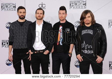 LOS ANGELES - NOV 23:  Bastille arrives to the 2014 American Music Awards on November 23, 2014 in Los Angeles, CA
