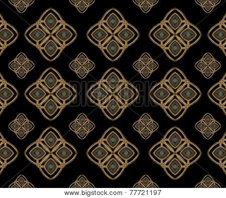 Stars Motif Geometric Arabesque Pattern