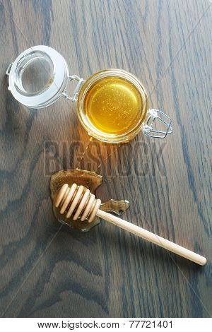 Honey Dipper With Honey