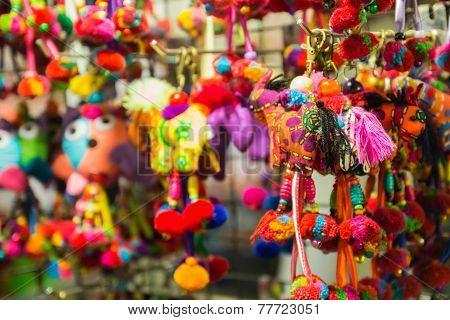 Handmade Colorful Fabric Animal-shape Key Chain