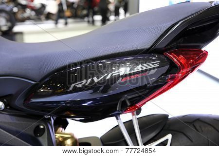 Bangkok - November 28: Fiber Frame Of Agusta Rivale Motorcycle On Display At The Motor Expo 2014 On