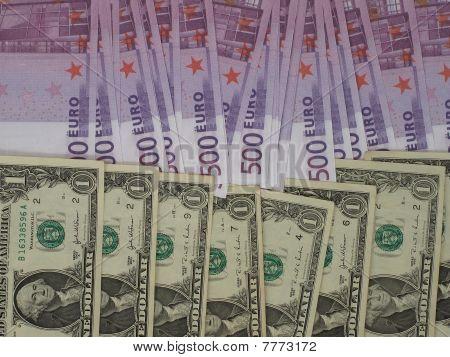 Euro Against Dollar.