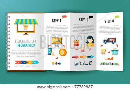 E-commerce flat infographics