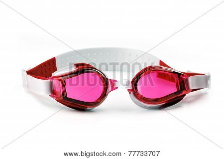 Red Swim Goggles