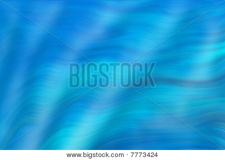 Abstract wavy blue lines