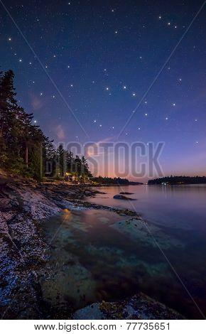 Stars Along Island Shore