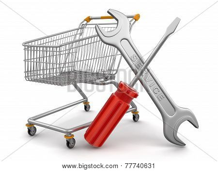 Shopping Cart with Tools  (clipping path included)
