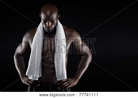 African Male Athlete After Workout