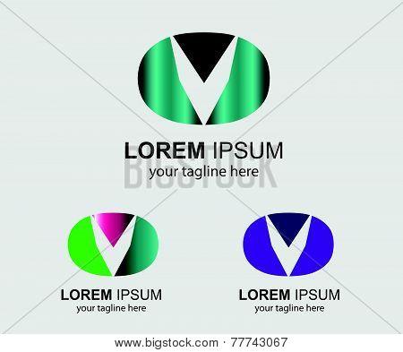 Abstract Business logo letter V company logo
