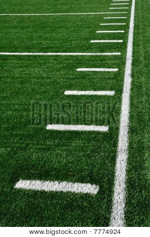 Sideline On American Football Field