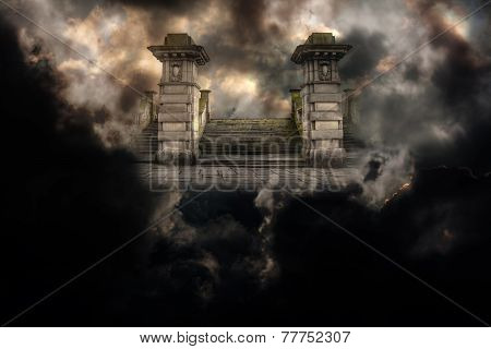 Spooky Grand Entrance To Heaven Or Hell