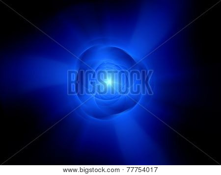 High Speed Rotating Glowing Object In Space