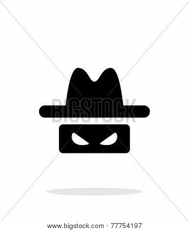Spy icon on white background.