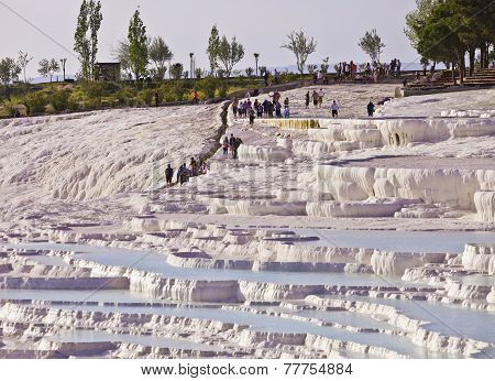 International Tourists Explore Hierapolis