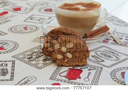 Italian biscuits with almonds nuts-cantuccini