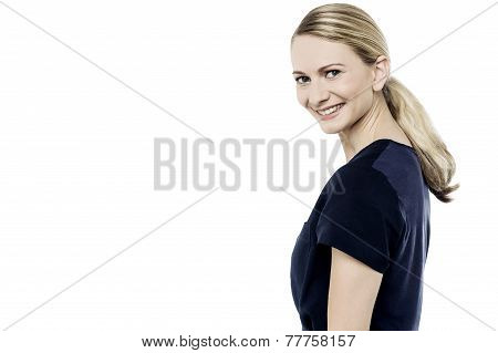 Attractive Girl Posing In Casuals