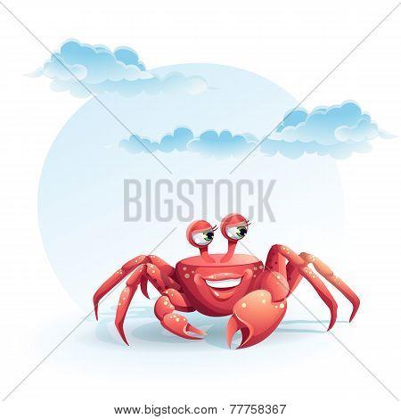 illustration merry crab
