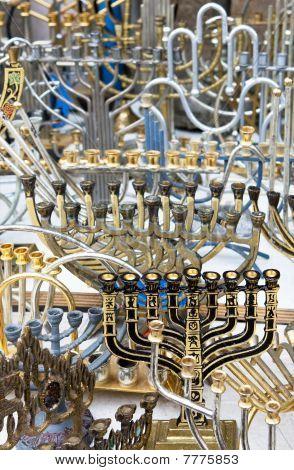 The Jewish Holiday Candlesticks Background.