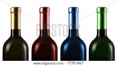 Wine Bottle Isolated On White Background