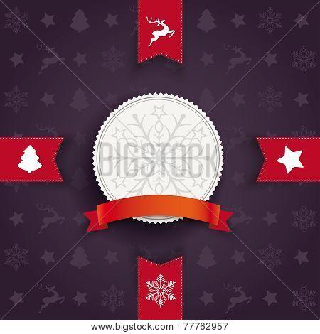 Christmas Greeting Card 4 Flags White Emblem