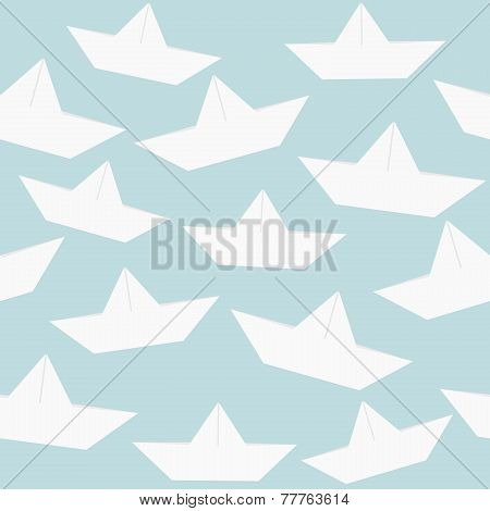Paper Boats Seamless