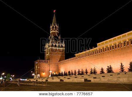 Red Square and Kremlin at night, Moscow, Russia