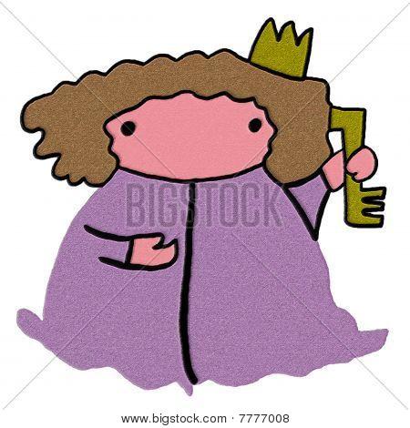 Princess Holds The Golden Key