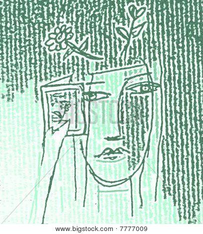 Abstract Greeting Illustration