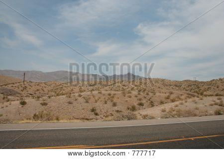 road on desert